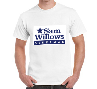 Campaign T-shirts  Two Sided Imprint – (White T-shirt)