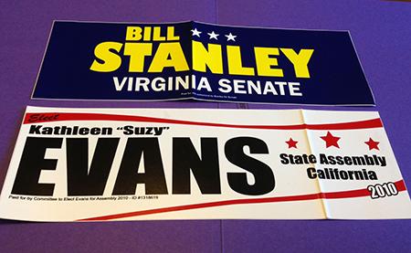 Standard Political Bumper Stickers (3.75″ x 11.5″)