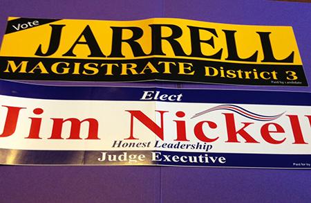 Standard Political Bumper Stickers (3.75″ x 15″)