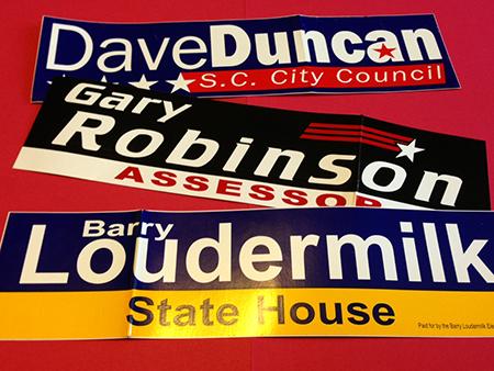 Economy Campaign Bumper Stickers (3″ x 11.5″)