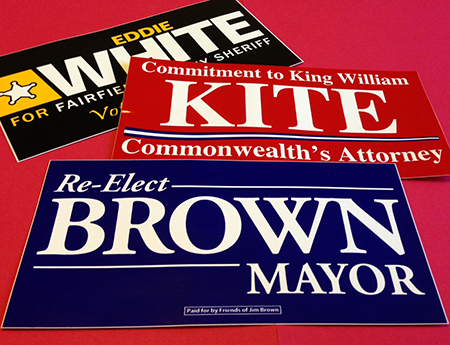political campaign stickers