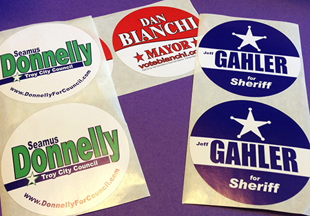 Campaign Lapel Stickers  (3″ Circle)