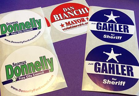 Campaign Lapel Stickers  (3″ Circle)