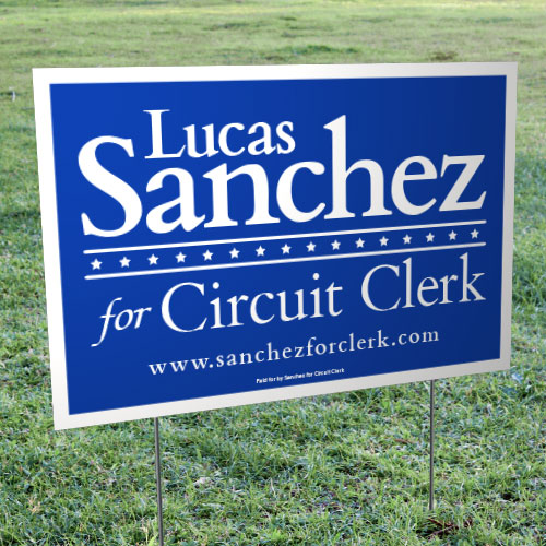 "Political Yard Signs – Corrugated Plastic (12"" x 18"")"