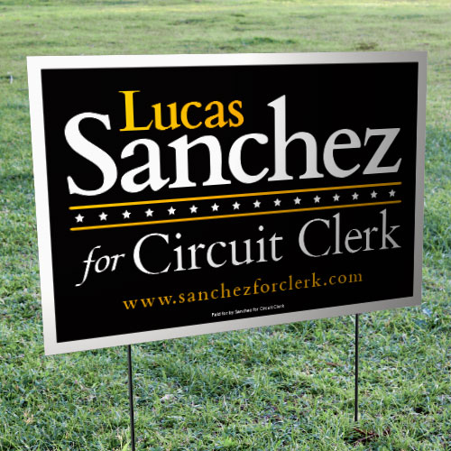 political yard signs for candidates for elections and caigns runandwin