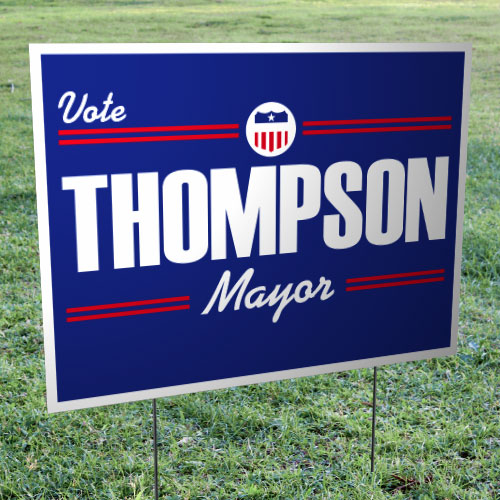 Political Yard Signs Corrugated Plastic 12 X 24