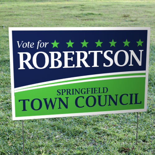 "Foldover Yard Signs (14"" x 22"")"