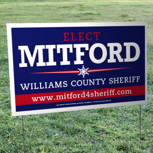 "Campaign Yard Signs – Sealed Yard Signs (21"" x 34.5"")"