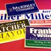 political lapel stickers