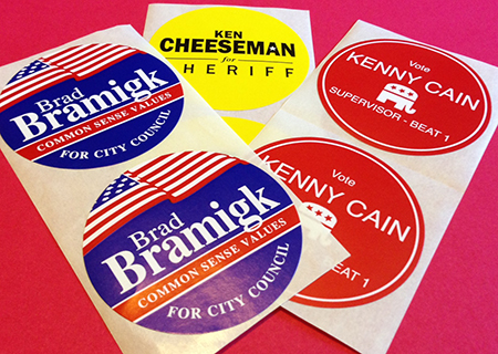 Political Lapel Stickers (2.5″ Circle)