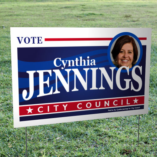 "Campaign Yard Signs – Full Color Sealed Yard Signs (16"" x 26"")"