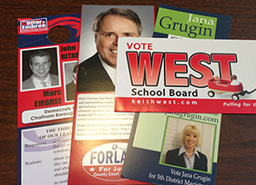 Winning Campaign Palm Cards