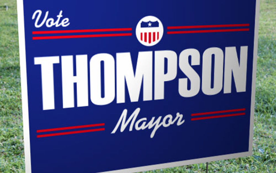 "FREE 3 Day Production until 10/31/2016 Campaign Yard Signs – Corrugated Plastic (18"" x 24"")"