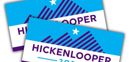Hickenlooper 2020 may not have red white and blue campaign yard signs