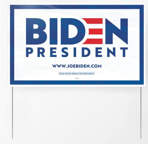 Biden campaign yard sign