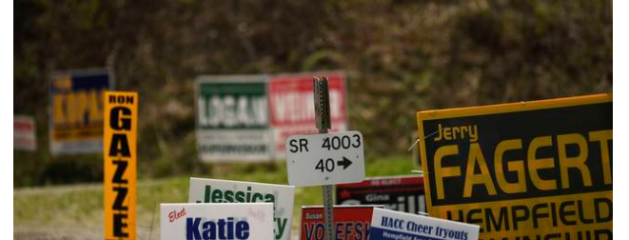 Campaign yard signs – news from my hometown