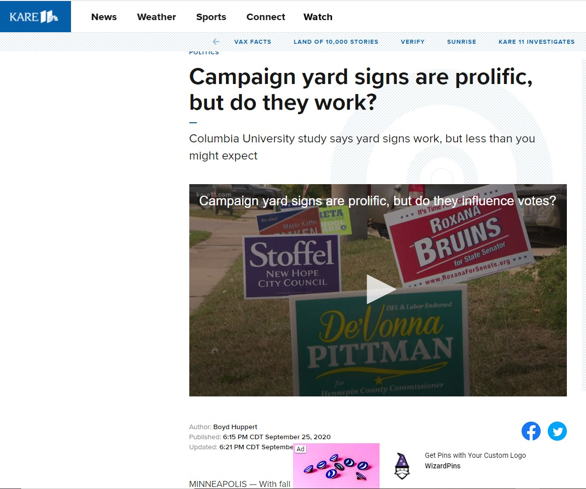 Campaign Yard Signs Matter